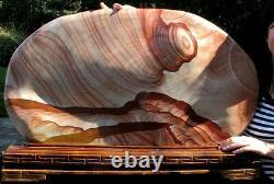 101lbs Museum Quality Super Bright Natural Wavy Stripes Stone- Tornado
