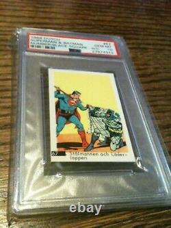 1968 Dutch Gum #67 Superman Batman DC Comics Silver Age PSA 10 GEM MINT POP 1