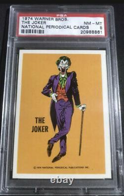 1974 The Joker Warner Bros. Vintage PSA 8 Card Batman DC Marvel Comics