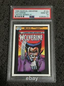 1990 Marvel Universe LIMITED SERIES 1 WOLVERINE PSA 10 Gem Mint Rookie Low Pop B