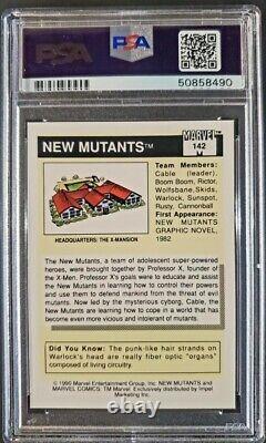 1990 Marvel Universe PSA 10 #142 New Mutants Cable X-men Pop 21