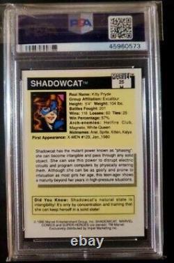 1990 Marvel Universe PSA 10 #25 Shadowcat (Kitty Pryde) X-Men Pop 19 Gem mint