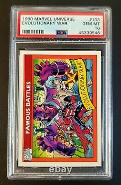 1990 Marvel Universe PSA 10 Gem Mint- HIGH EVOLUTIONARY HULK Pop 19