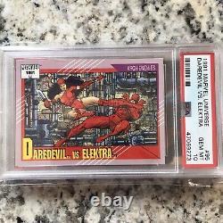 1991 Daredevil vs. Elektra PSA 10 Card Marvel Universe Box Impel Comics POP 3