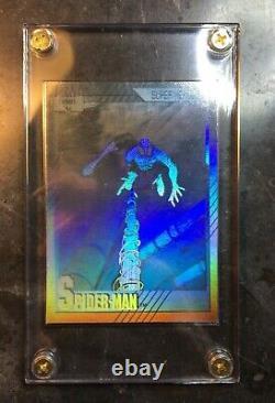 1991 Impel Marvel Universe Series 2 Spider-Man Hologram Card #H1 Stan Lee Signed