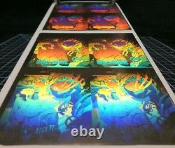 1992 Impel Marvel X-Men Series 1 Cards Framed Uncut Hologram Sheets x3