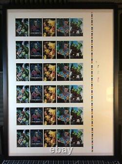 1992 Marvel Masterpieces Framed Uncut Sheets 100-Card Base & 30-Card Spectra