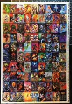 1993 Marvel Masterpieces Framed Uncut Sheets 100-Card Base & 32-Card Dyna Etch