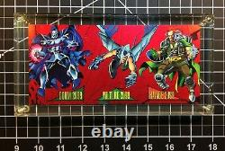1993 Marvel Universe Series 4 Capital City 3-Card Red Foil Promo Panel