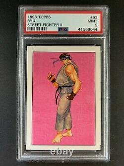1993 Topps Street Fighter II Card Ryu #63 PSA 9 Mint LOW POP
