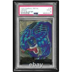 1995 Marvel Metal Gold Blaster Venom Psa 9 Mint Pop 6