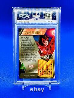 2013 Marvel Fleer Retro 15 Scarlet Witch Precious Metal Gems Blue /50 PSA 9 POP1