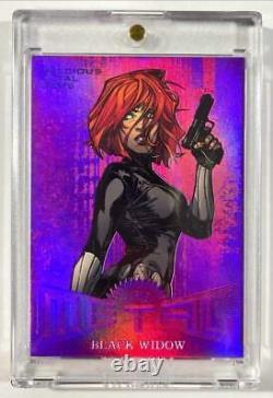 2017 Marvel Fleer Ultra Spider-Man Black Widow Precious Metal Gems Purple /5 PMG