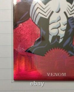 2017 Marvel Fleer Ultra Spider-Man Metal RED PMG MM23 VENOM LOW # 03/99
