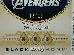 2021 UD Marvel Black Diamond BRUCE BANNER (Hulk) Retro Triple Relic # 12/15