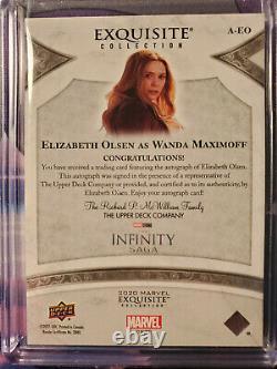 2021 UD Marvel Black Diamond Exquisite ELIZABETH OLSEN AUTO Gold #10/35 Wanda