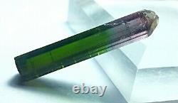 42 cts Top Quality Super Clean Bicolor Purple Pendant Size DT Tourmaline Crystal