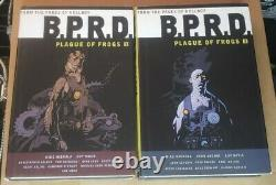 BPRD Plague Of Frogs Hardcover Vol 1 + 2 OOP 1st ED Mignola Omnibus HC hellboy
