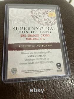 Cryptozoic Supernatural Seasons 4-6 Autograph Card MS Mark Sheppard As Crowley