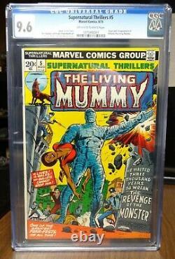 Dragonmiser Supernatural Thrillers #5 9.6 Off White/White 1st Living Mummy 1973