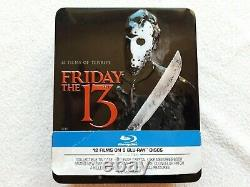 Friday The 13th Complete Collection 12 Film BLU RAY STEELBOOK RARE REGION FREE