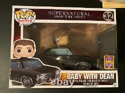 Funko POP Ride Baby with Dean Supernatural SDCC 17 Exclusive #32 with Protector