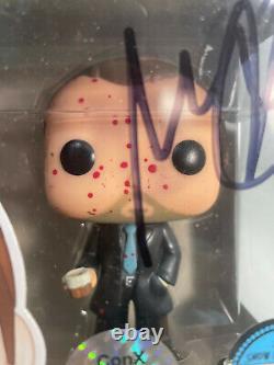Funko POP Supernatural Crowley Blood Splattered LE Signed by Mark Sheppard 10/25