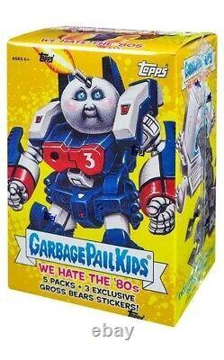 Garbage Pail Kids We Hate the 80s Trading Card BLASTER Box 5 Packs