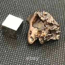 Golden pallasite meteorite 21g. Super sculpted, natural patina, gemmy olivine