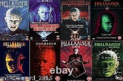HELLRAISER COMPLETE MOVIE DVD COLLECTION FILM 1 2 3 4 5 6 7 8 Original UK Releas