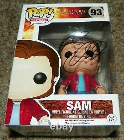 Jared Padalecki Sam Winchester Supernatural Signed Funko Pop Figure Auto JSA