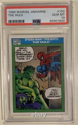 Marvel PSA 10 GEM MT 1990 Marvel Universe Series 1 HULK & SPIDER-MAN