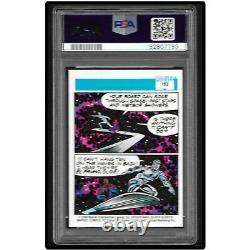 Marvel PSA 10 GEM MT 1990 Marvel Universe Series 1 SILVER SURFER & SPIDER-MAN
