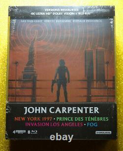 New & Sealed EU Import John Carpenter 4K Steelbook Collection Blu-ray