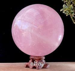 Super Large 3.3 LB Natural Rose Quartz Sphere Beautiful Crystal Ball About 1.5kg