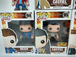 Supernatural Funko Pop Lot Castiel Hot Topic Exclusive Sam Dean Crowley Bobby