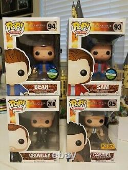 Supernatural Funko Pop(exclusive, Bloody, Metallic) Sam, Deam, Crowley, Castiel