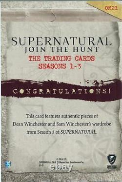 Supernatural Seasons 1-3 Ultra Rare Oversize Dual Wardrobe Card OM21