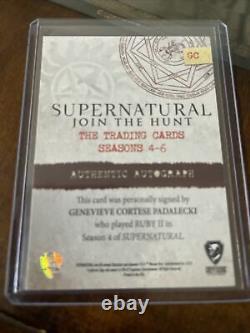 Supernatural Seasons 4-6 Autograph Card GC Genevieve Cortese Padalecki as Ruby