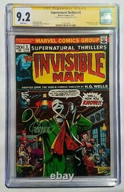 Supernatural Thrillers #2 CGC 9.2 NM- SS Signed Jim Steranko Invisible Man 1973