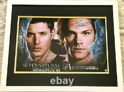 Supernatural cast signed 2012 SDCC poster Jensen Ackles Jared Padalecki FRAMED