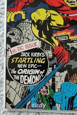 The Demon #1 Origin Jack Kirby 1st Appearance Etrigam Randu DC Comics 1972 FN/VF