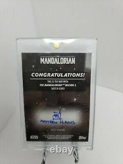 Topps The Mandalorian 1/1 Sketch Auto END SCENE LUKE SKYWALKER TAKES THE CHILD