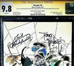 VENOM #6 CGC SS 9.8 SIGNED X3 MCFARLANE BAGLEY MICHELINIE. SCORPION Neg 11000