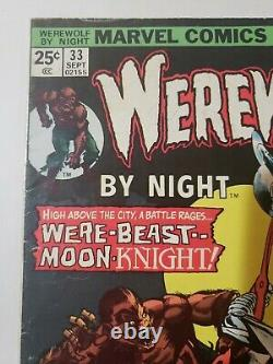 Werewolf by Night #33(Marvel, 1975)2nd app Moon Knight, DISNEY PLUS MCU KEY F/F