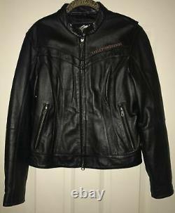 Womens Leather Harley Davidson Riding Jacket Super Wings Size Medium